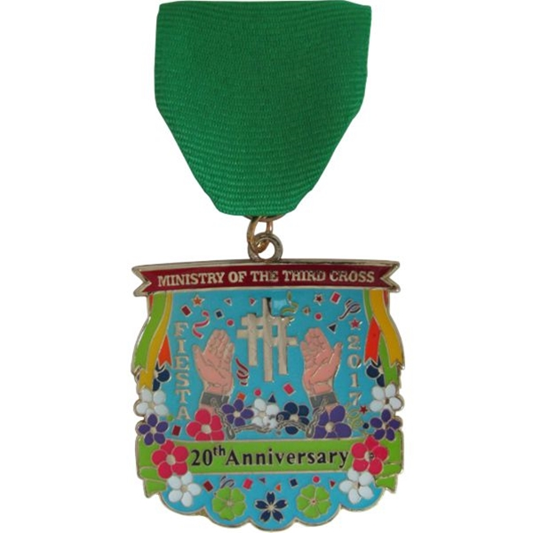 2017 Ministry of the Third Cross 20th Anniversary Fiesta Medal