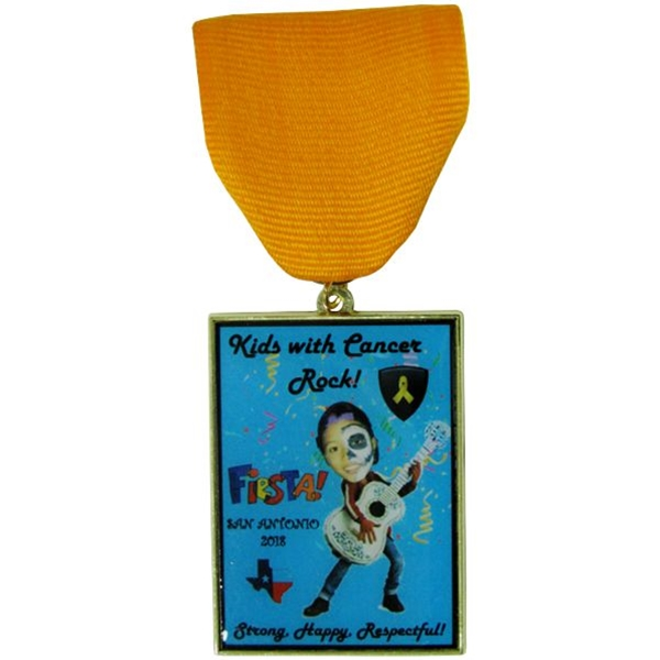 2018 Kids With Cancer Rock Fiesta Medal