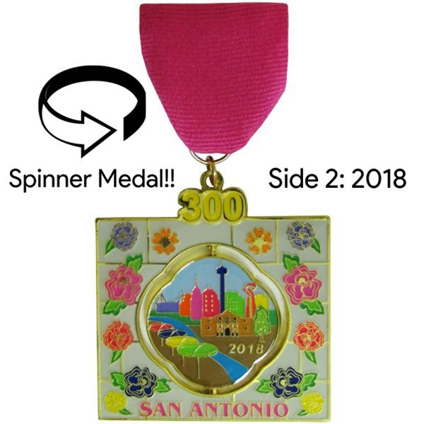 2018 A Window in Time: 1718 & 2018 Fiesta Medal